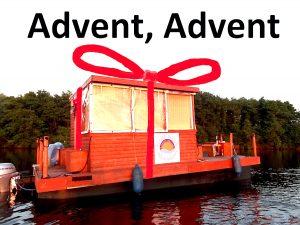 Flussfloß als Weihnachtsgeschenk