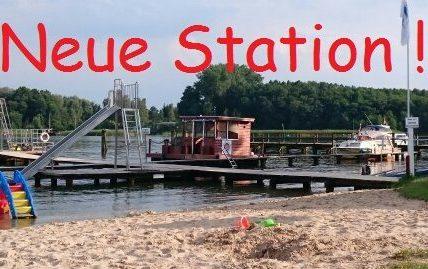 Neue Fluss-Floß Station im Strandbad Storkow !
